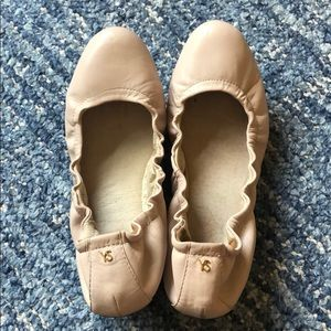 YS light pink/nude leather ballet flats, size 7